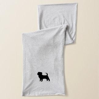 Affenpinscher-Silhouette Schal
