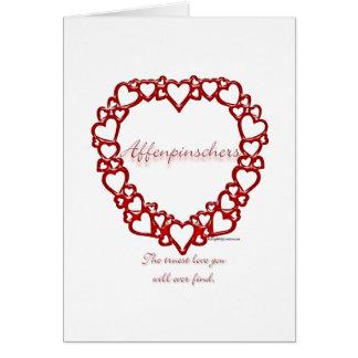 Affenpinscher-wahre Liebe Karte