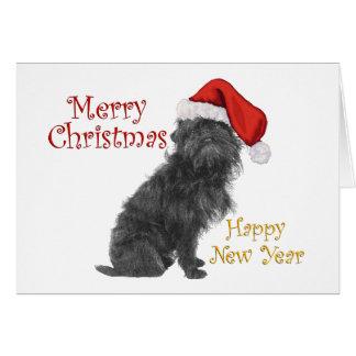 Affenpinscher-Weihnachten Karte
