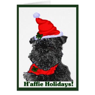Affenpinscher-Weihnachtskarten personalisiert Karte