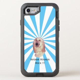 Afghanen-Felsen!!! auf weißer Sternexplosion OtterBox Defender iPhone 8/7 Hülle