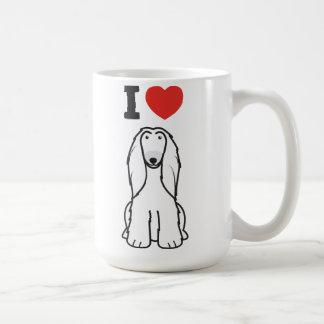 Afghanen-HundeCartoon Kaffeetasse