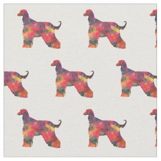 Afghanen-HundGeo Muster-Silhouette multi Stoff
