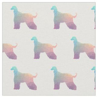 Afghanen-HundGeo Muster-Silhouette-Pastell Stoff