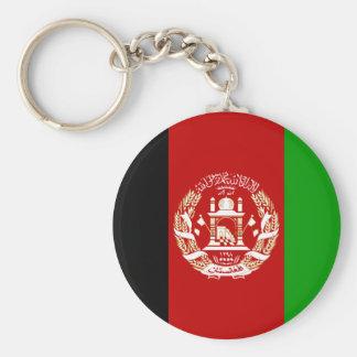 Afghanistan-Flagge AF Standard Runder Schlüsselanhänger