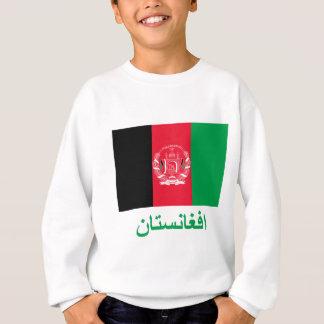 Afghanistan-Flagge mit Namen auf Pashto Sweatshirt