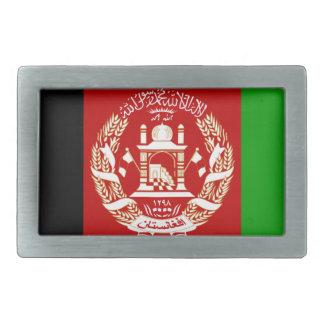 Afghanistan-Flagge Rechteckige Gürtelschnalle