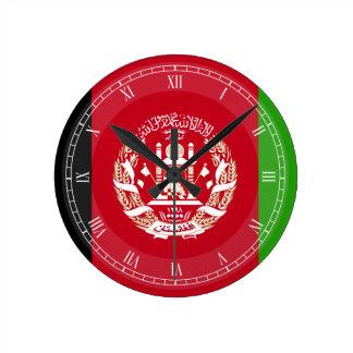 Afghanistan-Flagge Runde Wanduhr