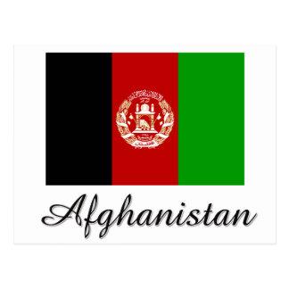 Afghanistan-Flaggen-Entwurf Postkarte