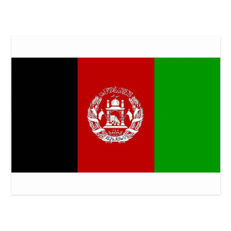 Afghanistan-Flaggen-Postkarte Postkarte