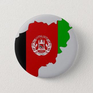 Afghanistan-Flaggenkarte Runder Button 5,1 Cm