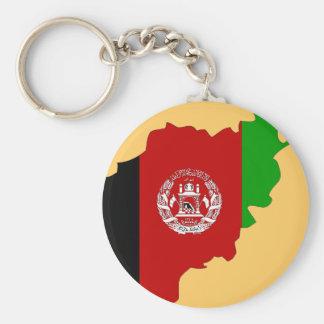Afghanistan-Flaggenkarte Schlüsselanhänger