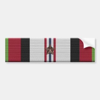 Afghanistan-Kampagnen-Medaillen-Autoaufkleber mit Autoaufkleber