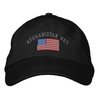 Afghanistan-Tierarzt mit amerikanischer Flagge