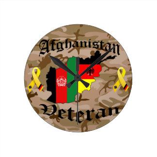 Afghanistan Veteran German Runde Wanduhr