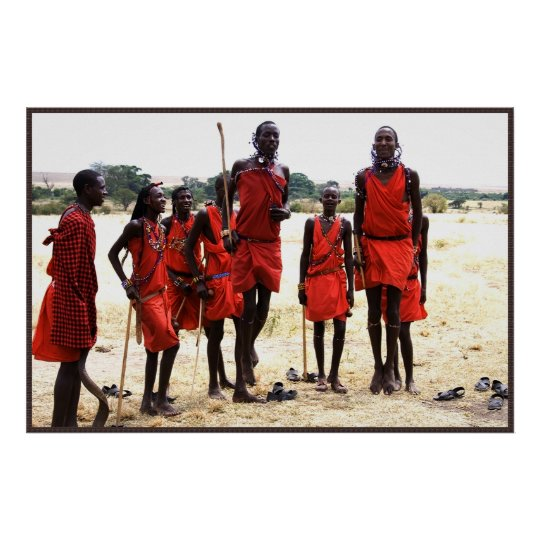 Africa – People in Red Poster