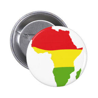 africa shape flag pinback buttons