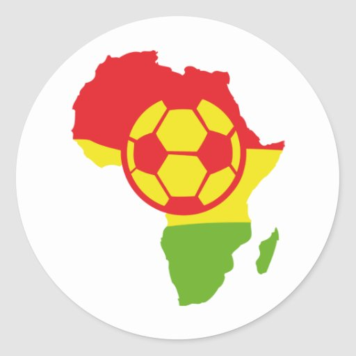 africa soccer ball flag round stickers