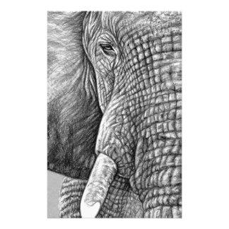 African Elephant Briefpapier