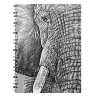 African Elephant Spiral Notizblock