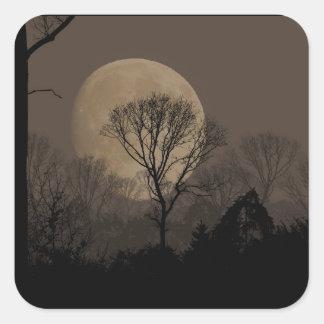 african moon quadratischer aufkleber