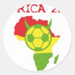 Afrika 2010 runder aufkleber