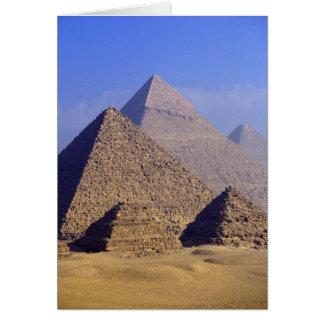 Afrika, Ägypten, Kairo, Giseh. Große Pyramiden Karte