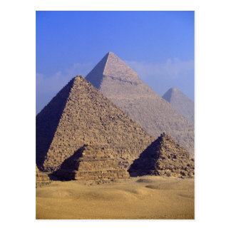 Afrika, Ägypten, Kairo, Giseh. Große Pyramiden Postkarte