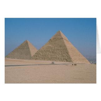 Afrika - Ägypten - Kairo - große Pyramiden von Karte