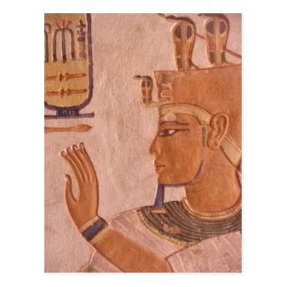 Afrika, Ägypten, Tal der Könige. Grabwand Postkarte