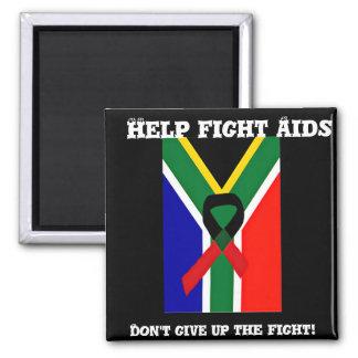 Afrika, AIDS Awareness_ Quadratischer Magnet
