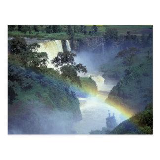 Afrika, Äthiopien, der blaue Nil, Katarakt Postkarte