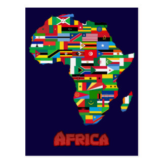 Afrika - Flaggen Postkarten