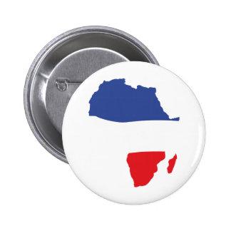 Afrika-Formfranzoseflagge Anstecknadel