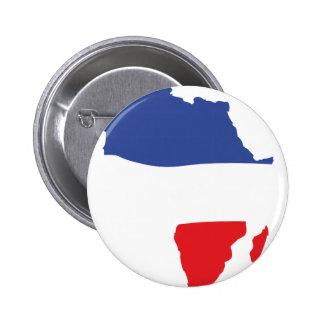 Afrika-Formfranzoseflagge Runder Button 5,7 Cm