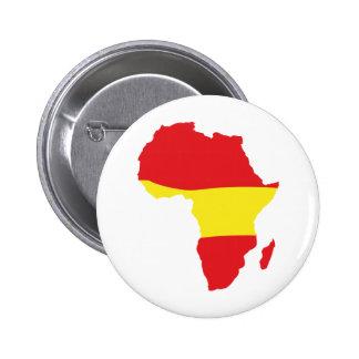 Afrika-Formspanien-Flagge Runder Button 5,1 Cm