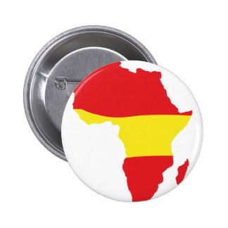 Afrika-Formspanien-Flagge Runder Button 5,7 Cm