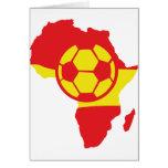 Afrika-Formspanien-Fußballflagge Karten