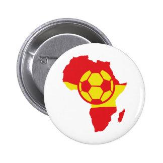 Afrika-Formspanien-Fußballflagge Runder Button 5,7 Cm