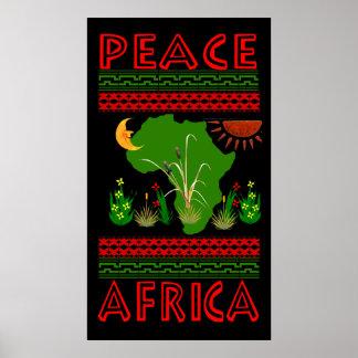 Afrika-Frieden Posterdrucke