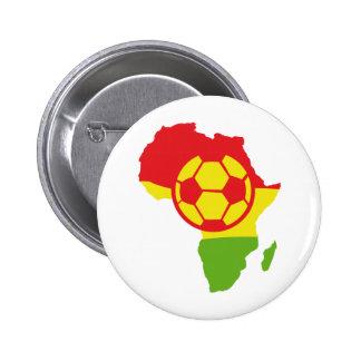 Afrika-Fußballflagge Buttons