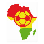 Afrika-Fußballflagge Postkarte