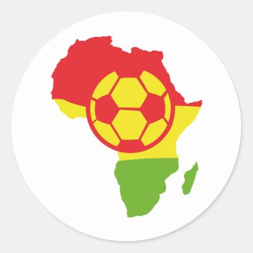 Afrika-Fußballflagge Runder Aufkleber