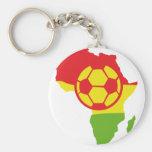 Afrika-Fußballflagge Schlüsselband