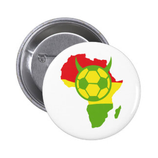Afrika-Fußballteufelfußball Runder Button 5,1 Cm