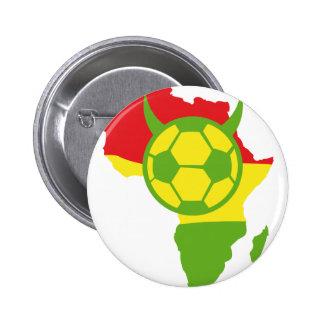 Afrika-Fußballteufelfußball Runder Button 5,7 Cm