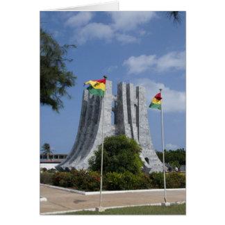 Afrika, Ghana, Accra. Nkrumah Mausoleum, Schluss 3 Karte
