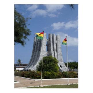 Afrika, Ghana, Accra. Nkrumah Mausoleum, Schluss 3 Postkarte