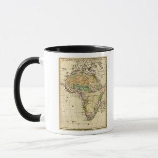 Afrika-Handfarbiger Atlas-Karte Tasse
