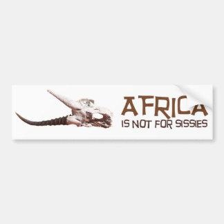 Afrika ist nicht für Weichlinge: Afrikanischer Autoaufkleber